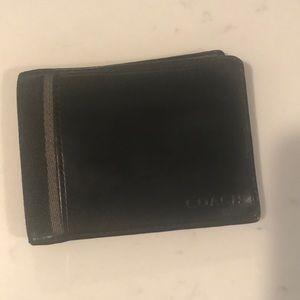 Black Authentic Coach Leather Wallet
